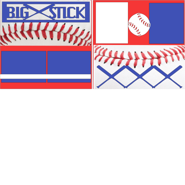 BASEBALL- BIG STICKS  -basic page kit
