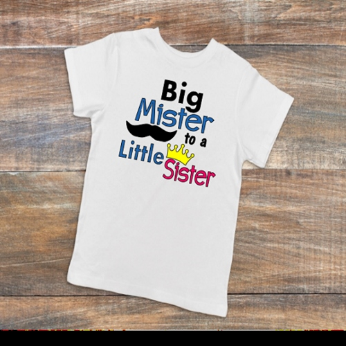 BIG MISTER LITTLE SISTER T-SHIRT