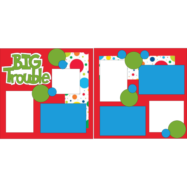 BIG TROUBLE  -basic page kit