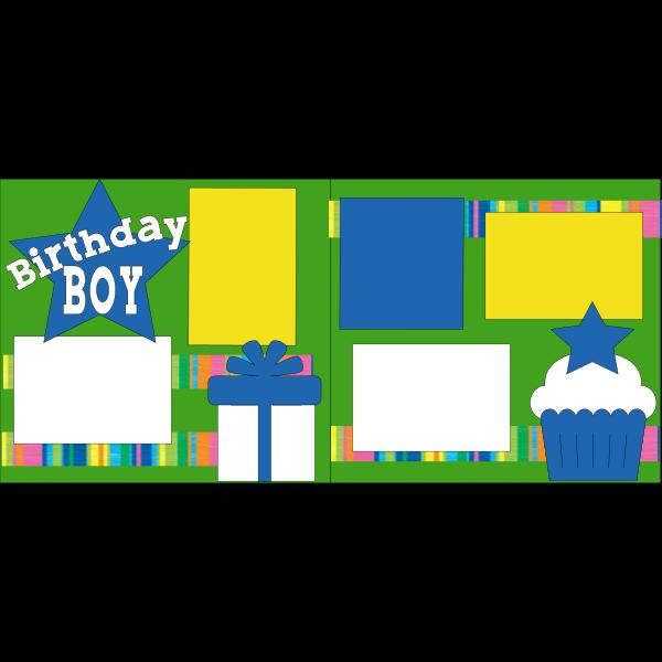BIRTHDAY BOY BLUE STAR -basic page kit