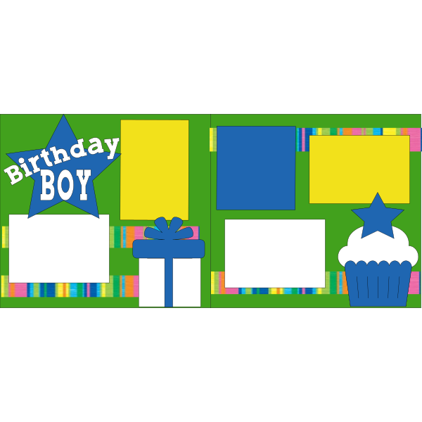 BIRTHDAY BOY BLUE STAR DIE CUTS ONLY