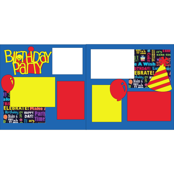 BIRTHDAY PARTY  -basic page kit