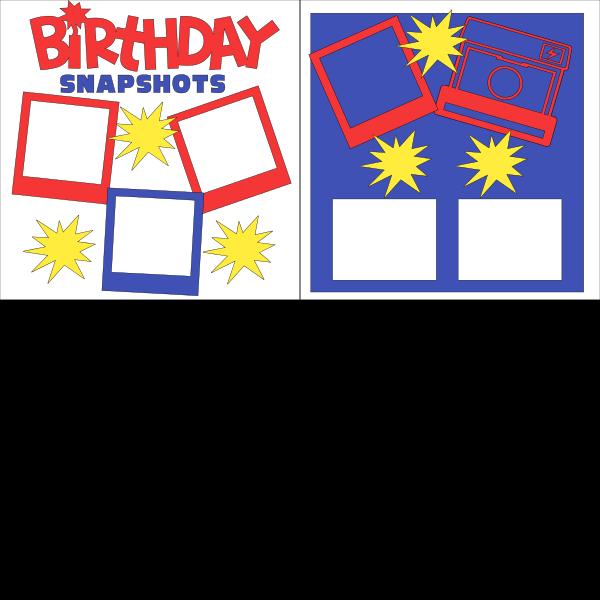BIRTHDAY SNAPSHOTS   -basic page kit