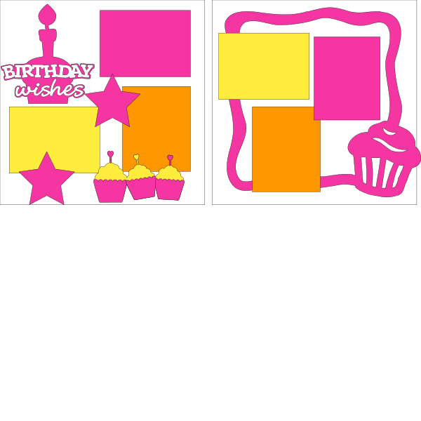 Birthday Wishes Girl--  page kit