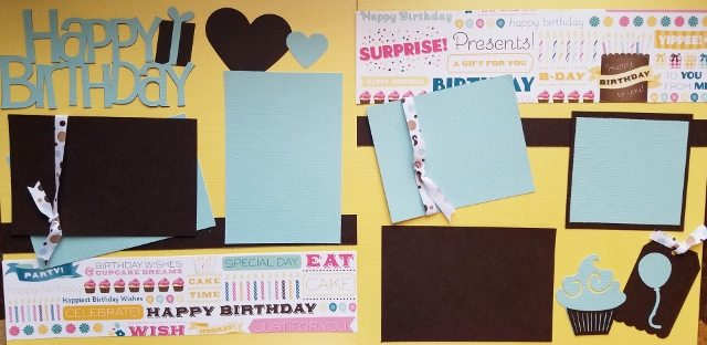 HAPPY BIRTHDAY BROWN BASIC PAGE KIT
