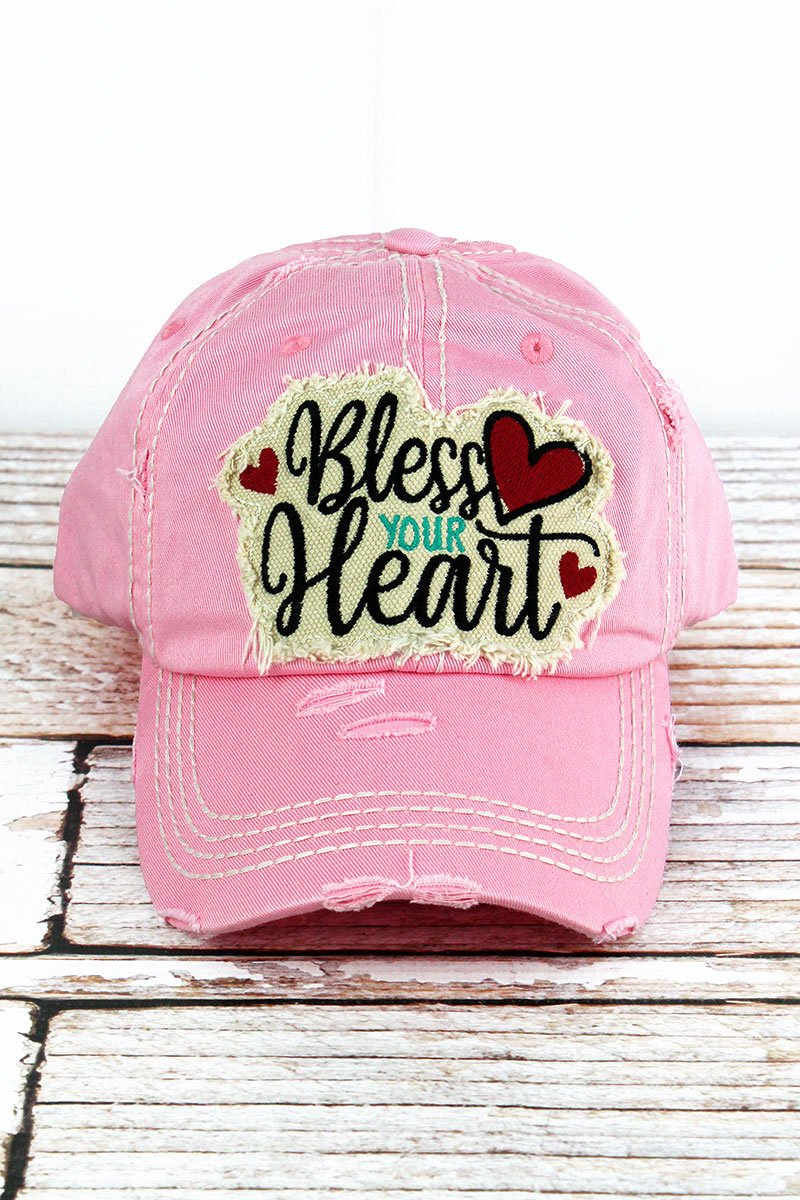 BLESS YOUR HEART PINK CAP