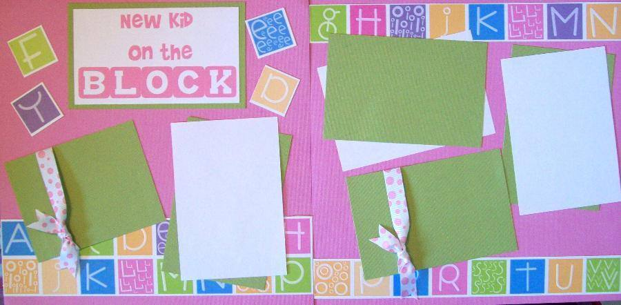 NEW KID ON THE BLOCK GIRL PAGE KIT