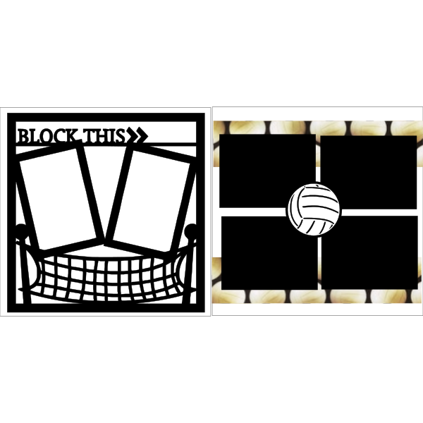 VOLLEYBALL-BLOCK THIS  -basic page kit