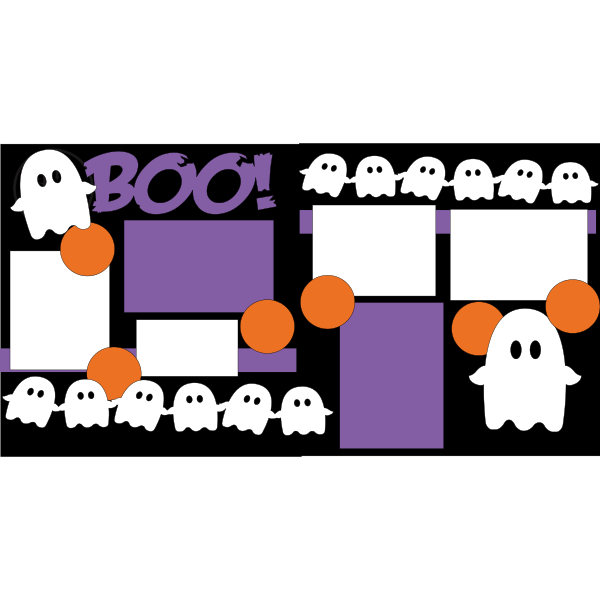 BOO! GHOSTS  -basic page kit