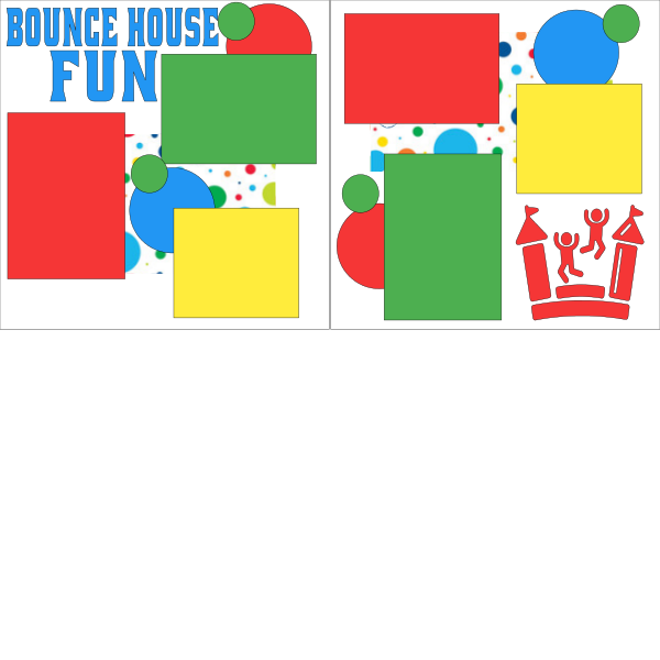 BOUNCE HOUSE FUN  -basic page kit