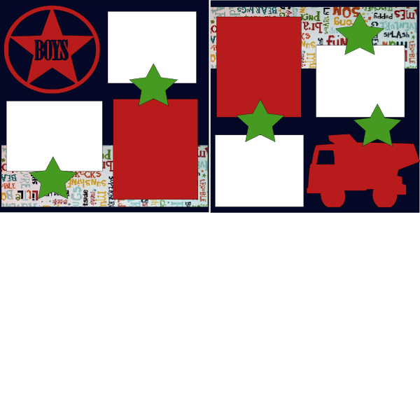 BOYS STAR  -basic page kit