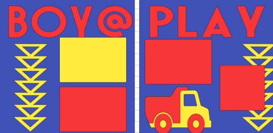 BOY @ PLAY  -basic page kit