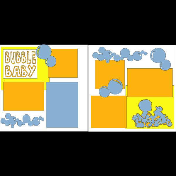 BUBBLE BABY BATH  -basic page kit