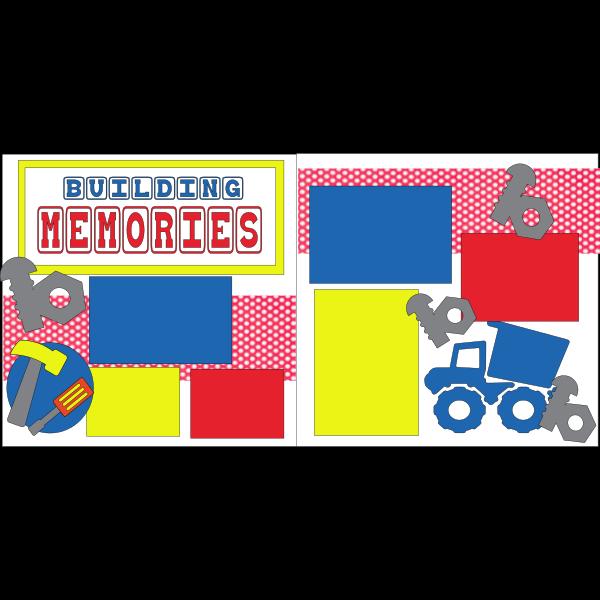 BUILDING MEMORIES  -basic page kit