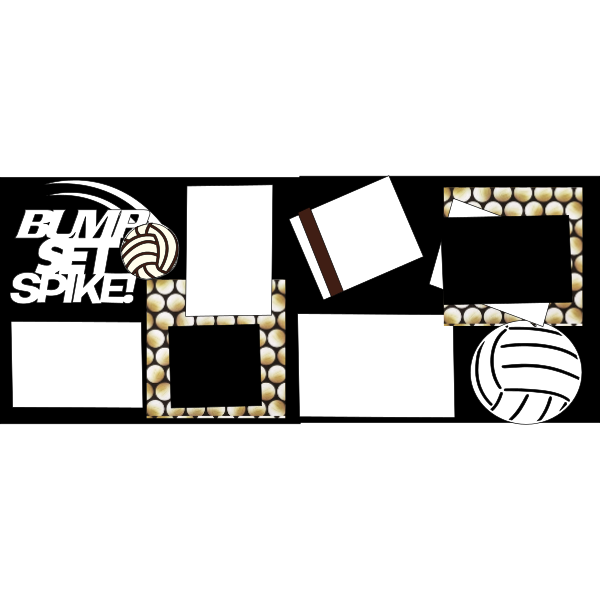 VOLLEYBALL BUMP SET SPIKE  -basic page kit