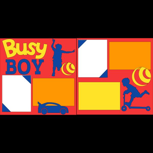 BUSY BOY  -basic page kit
