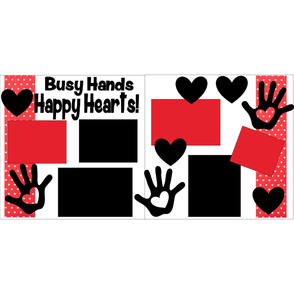 BUSY HANDS HAPPY HEARTS  -basic page kit