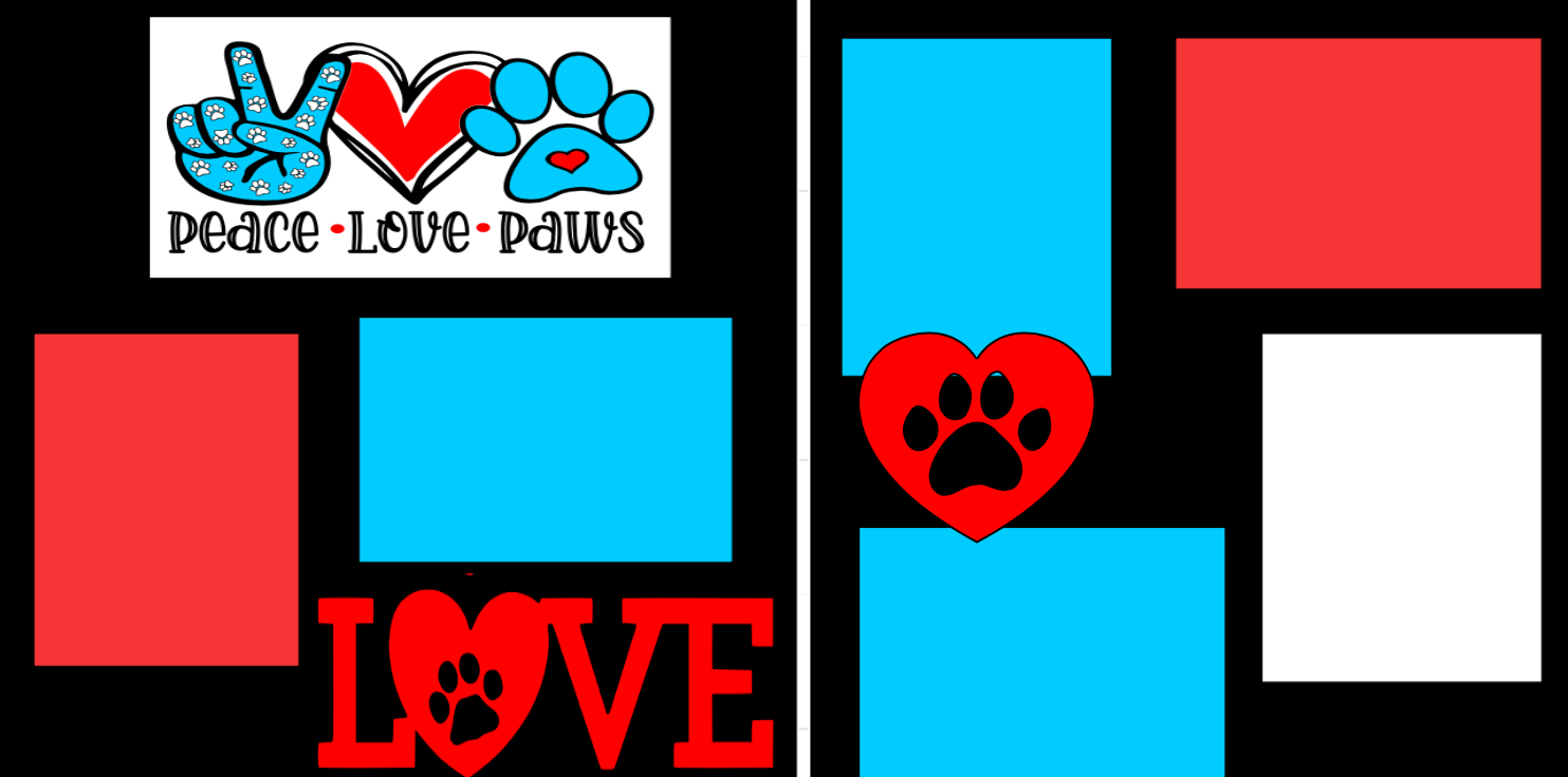 Peace love Paw Prints-  page kit