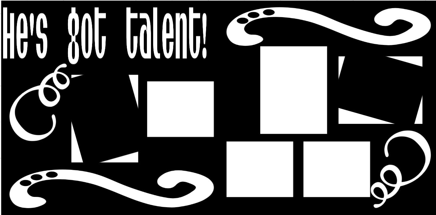 He's  got talent  -  page kit