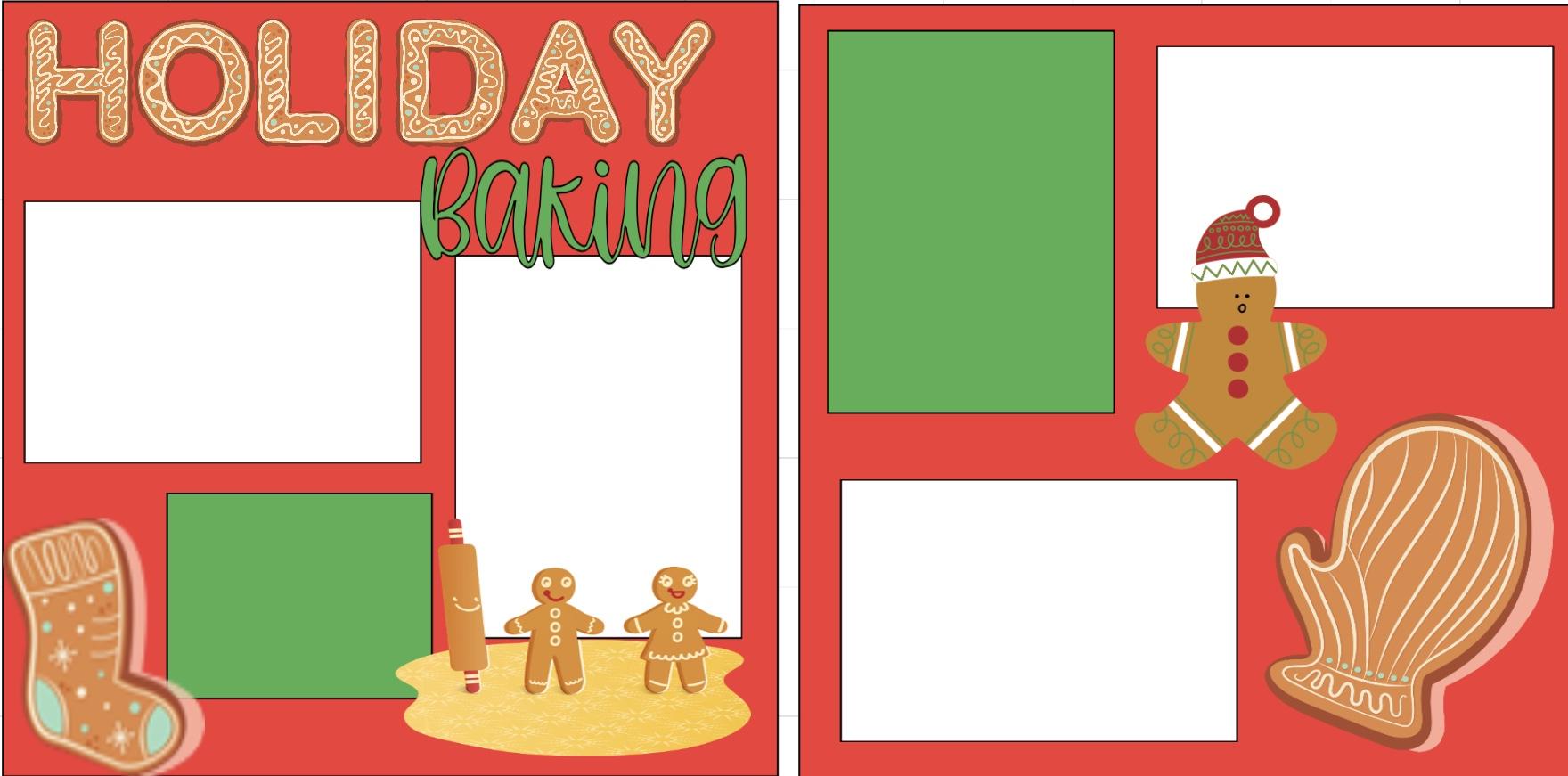 Christmas Holiday Baking -  page kit