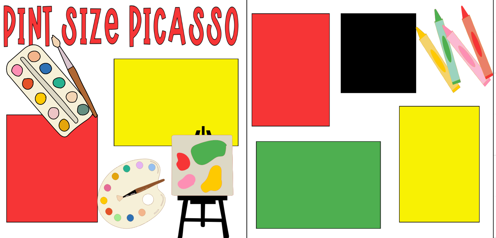Pint Size Picasso-  page kit