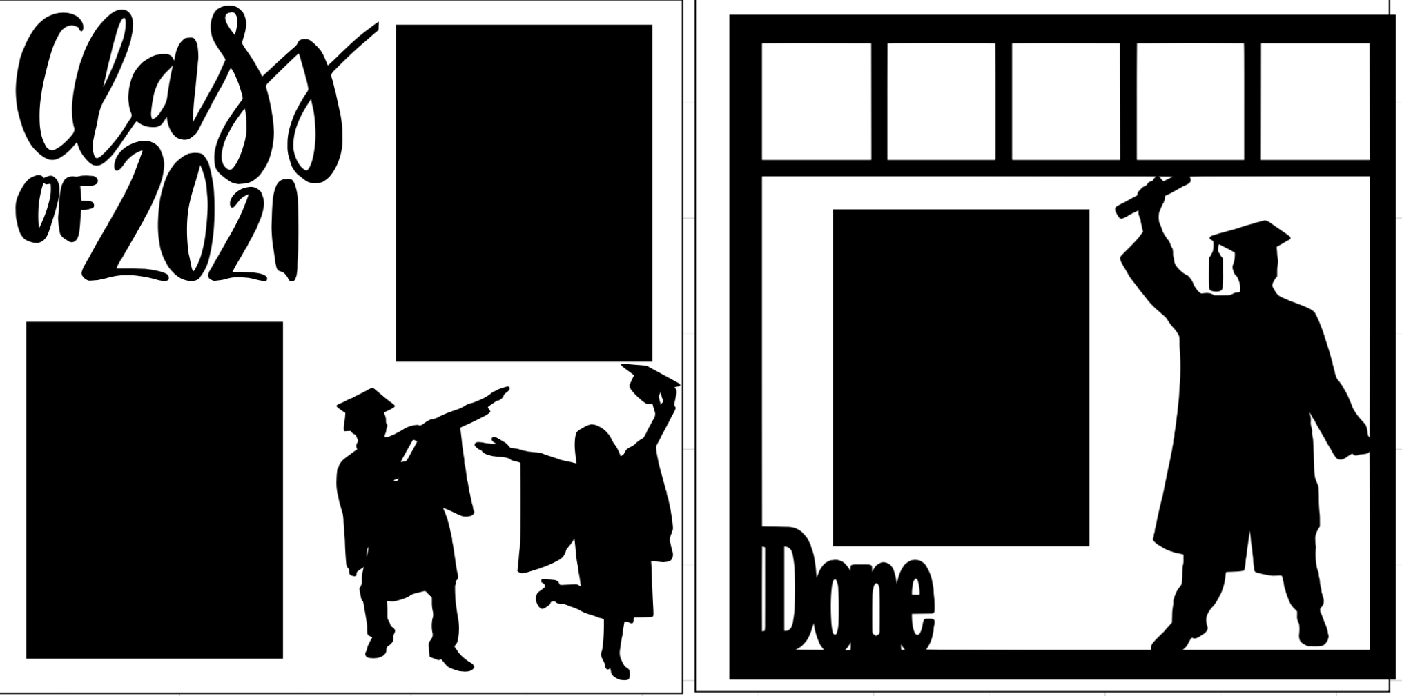 CLASS OF 2021 GRADUATION DONE! --  page kit