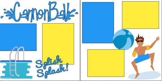 CANNONBALL - SWIMMING  -  page kit