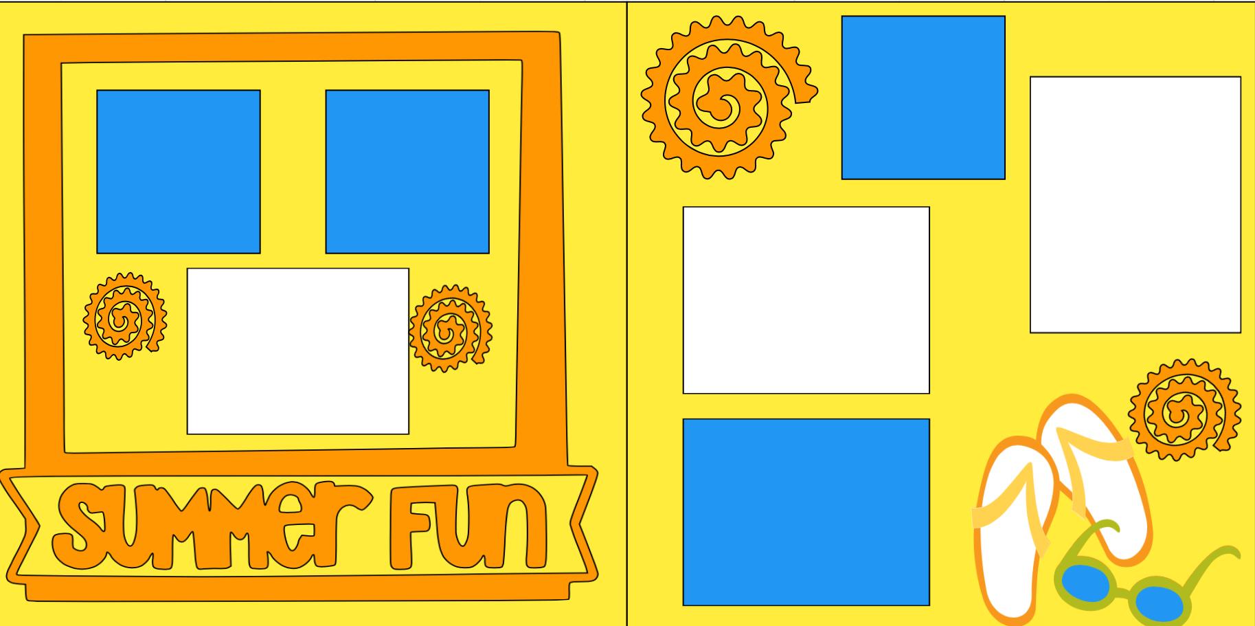SUMMER FUN -  page kit