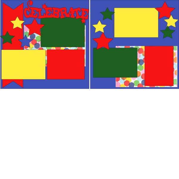 CELEBRATE (STARS)  -basic page kit