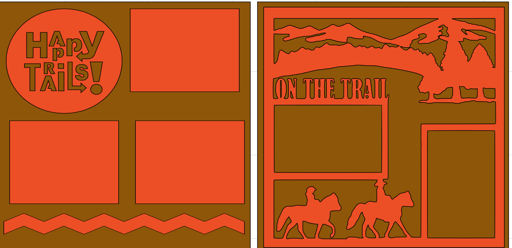Happy Trails (horses)-  page kit