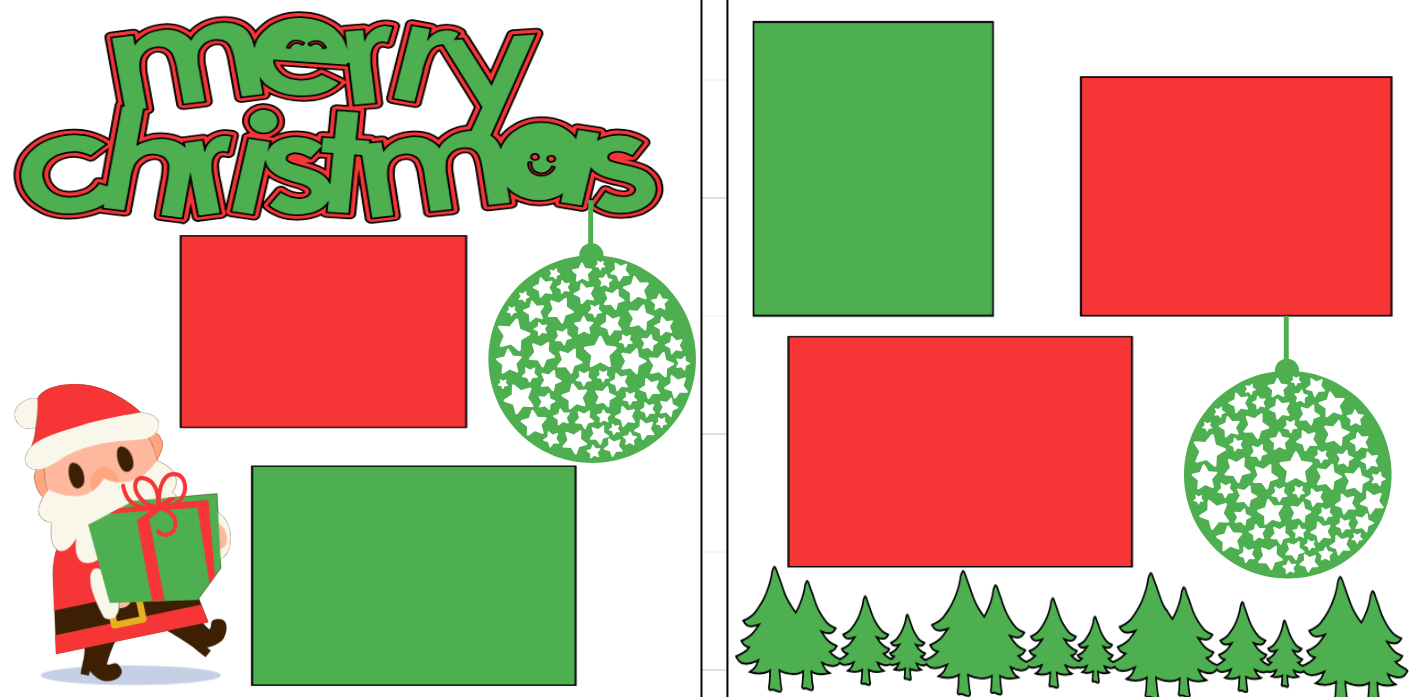 Merry Christmas � presents  page kit