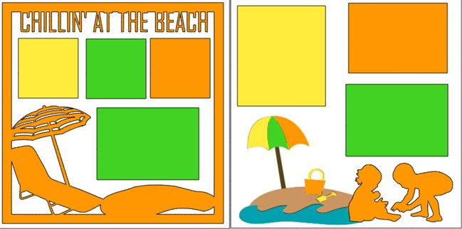 CHILLIN AT THE BEACH  -  page kit