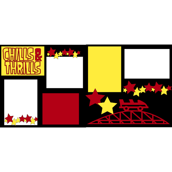 CHILLS & THRILLS (DISNEY-AMUSEMENT PARK - FAIR ) -basic page kit
