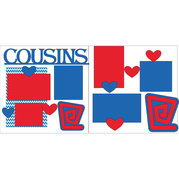 COUSINS RED/BLUE  -basic page kit
