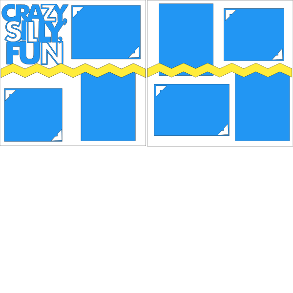 CRAZY SILLY FUN  -basic page kit