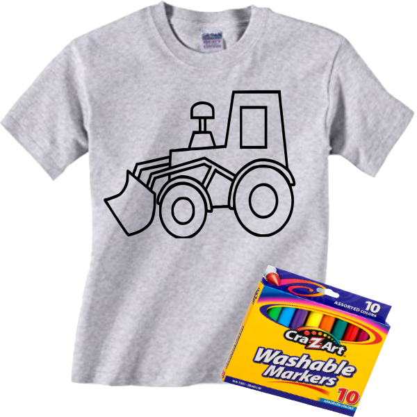 TRACTOR COLORING TEE
