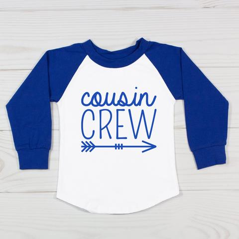 Cousin Crew 3/4 Raglan  Personalized name and number