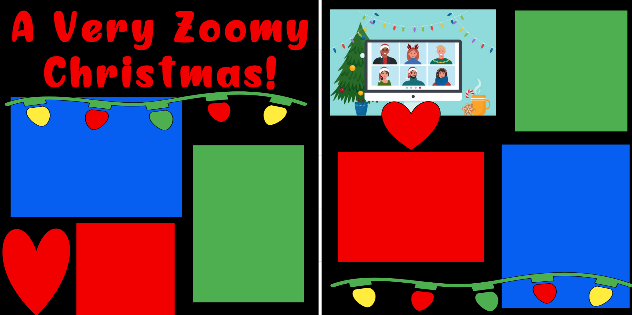 A very zoomy Christmas  page kit
