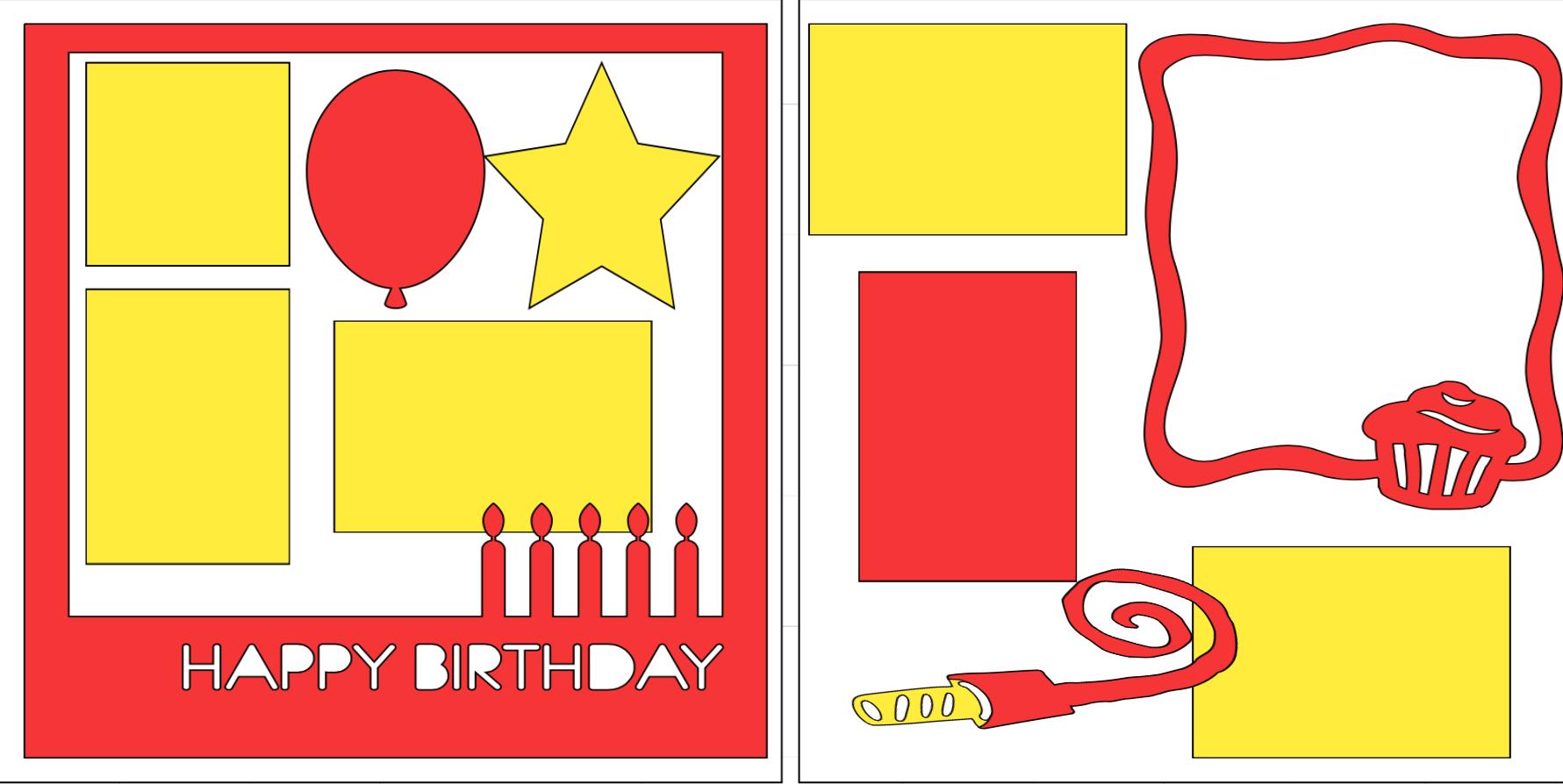 Happy Birthday 🎈  -  page kit