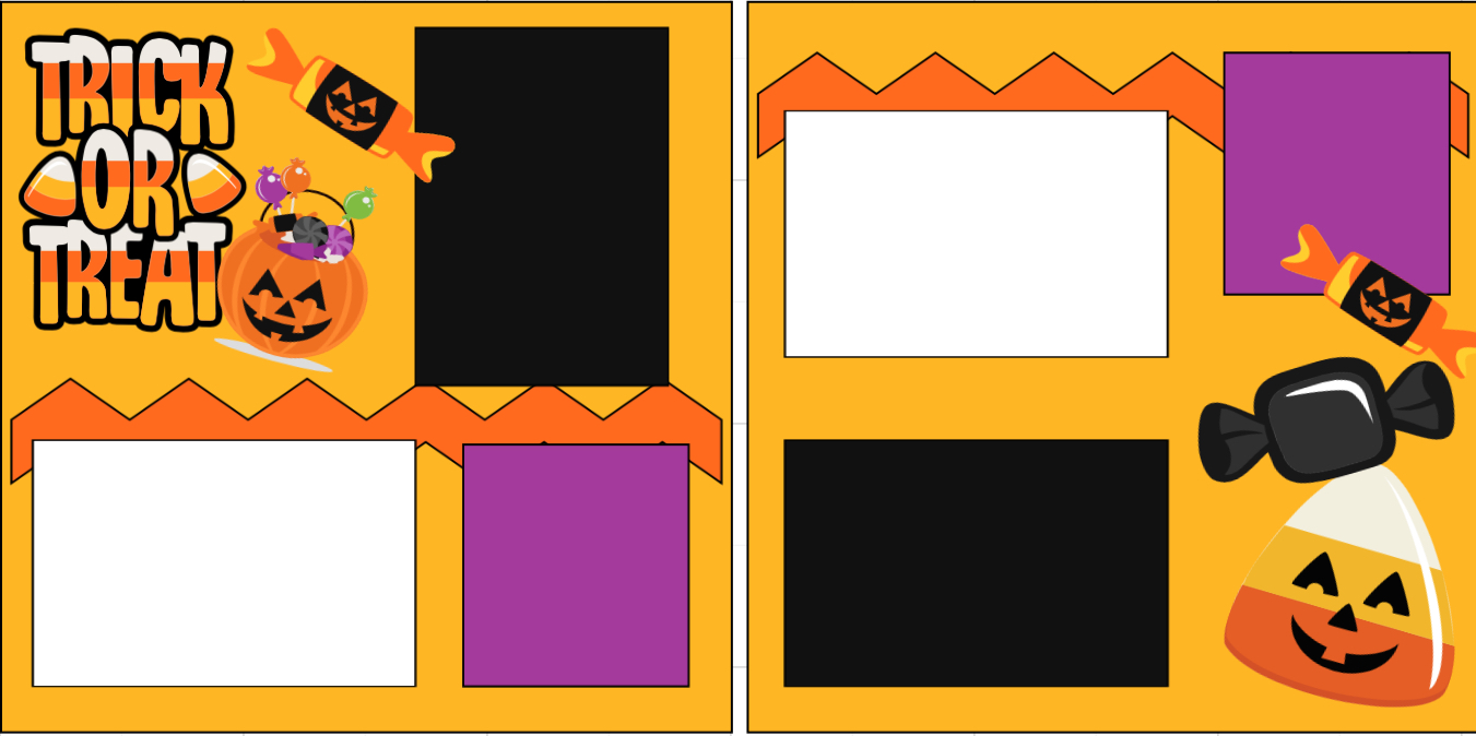 Trick or treat-  page kit
