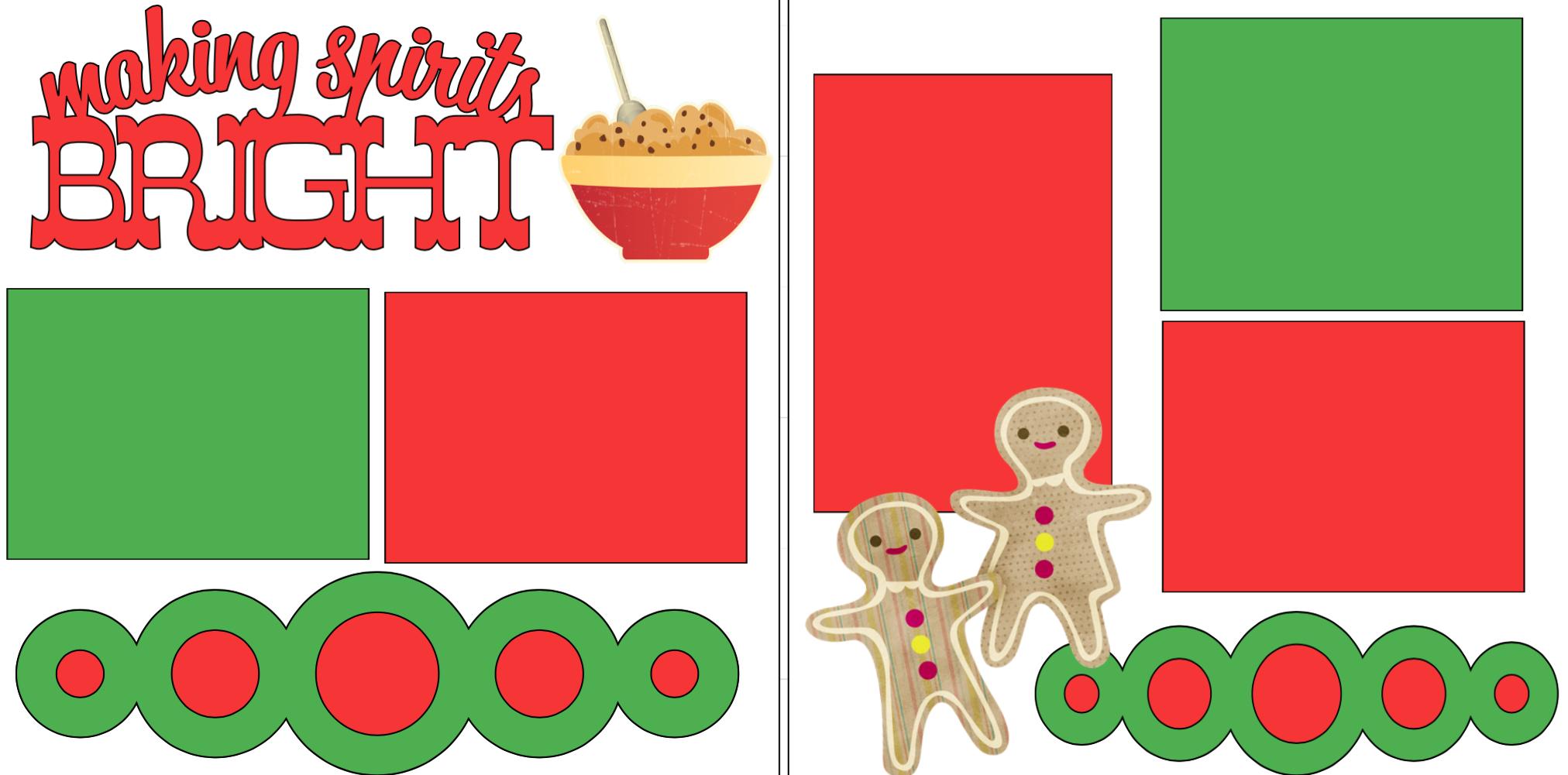 Making spirits bright baking cookies -  page kit