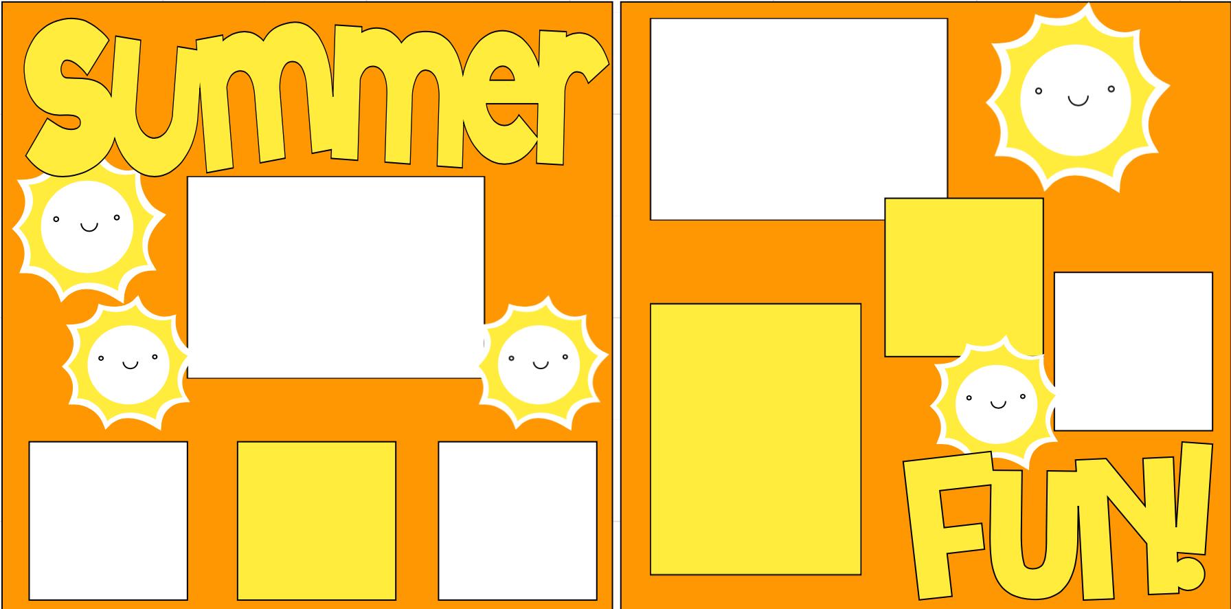 Summer Fun-  page kit