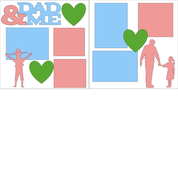 DAD AND ME GIRL  -basic page kit
