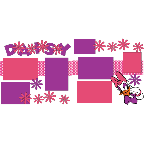 DAISY DUCK -DISNEY -basic page kit