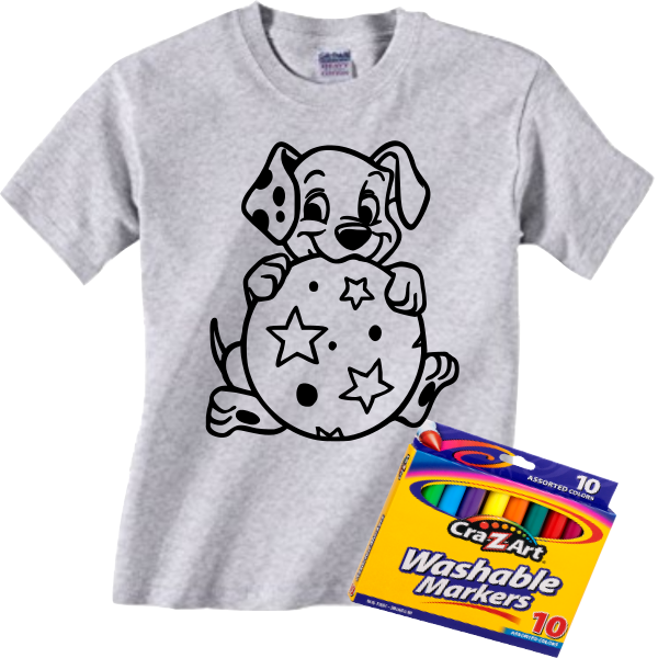 DALMATION COLORING TEE