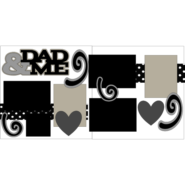 DAD & ME  -basic page kit