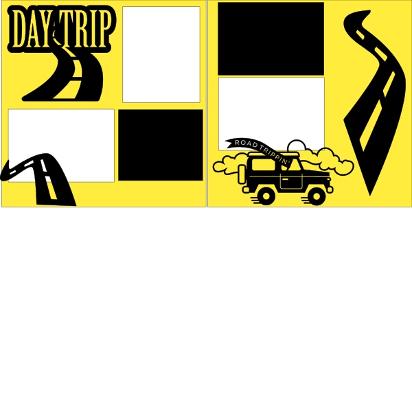 DAY TRIP (ROAD TRIP)  -basic page kit