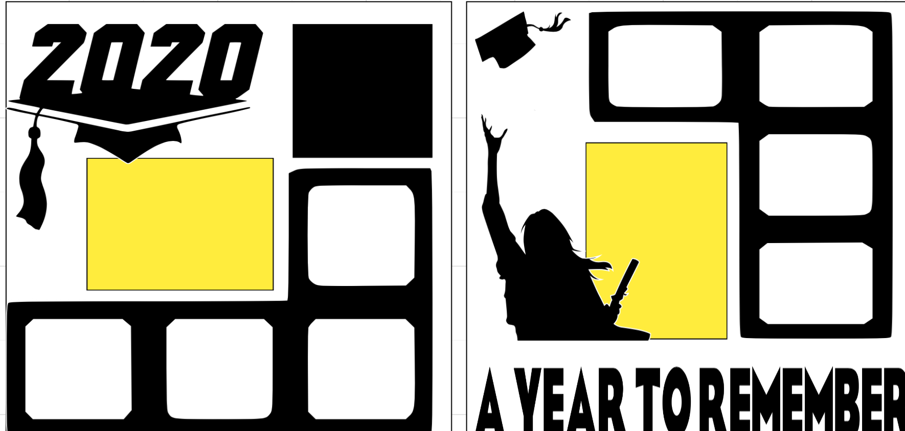 Graduate 2020 A Year to Remember girl  page kit