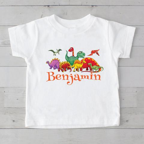 Dinosaurs Personalized Graphic T-Shirt