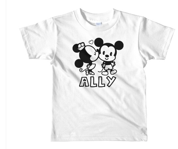 DISNEY MICKEY AND MINNIE  COLORING SHIRT